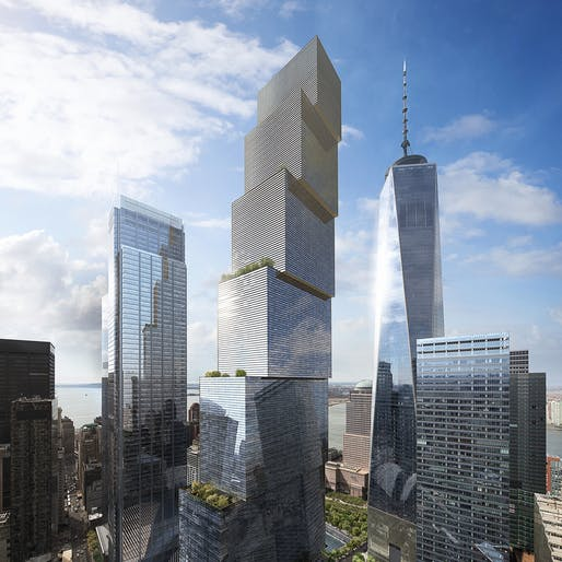 2 World Trade Center. Image via Bjarke Ingels Group