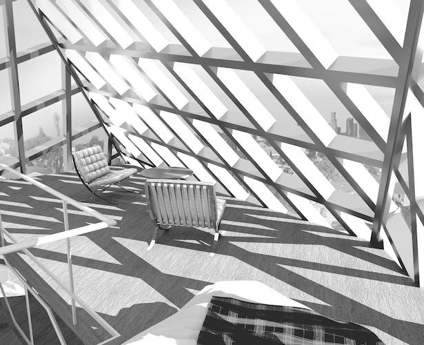 Rent Loft Interior Render