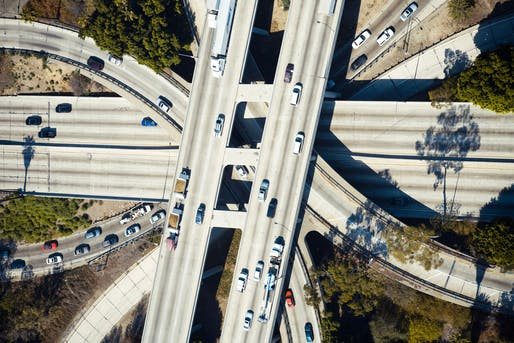 "Aerial view of the 110-101 interchange in Los Angeles. Photo by <a href=""https://unsplash.com/@laniel?utm_source=unsplash&amp;utm_medium=referral&amp;utm_content=creditCopyText"">Daniel Lee</a> on Unsplash"
