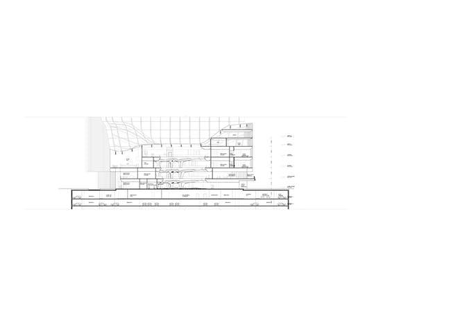 ZHA: Opus, Section 02. Image courtesy of Zaha Hadid Architects.