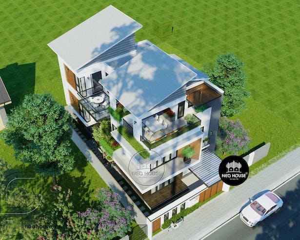 thiết kế biệt thự 3 tầng hiện đại. Ảnh 1