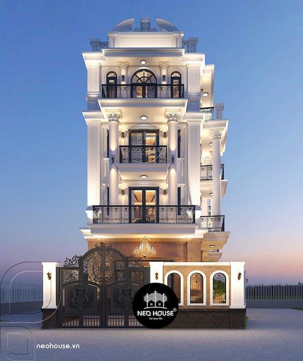Mẫu thiết kế biệt thự tân cổ điển đẹp 5 tầng tại tphcm thumbnail