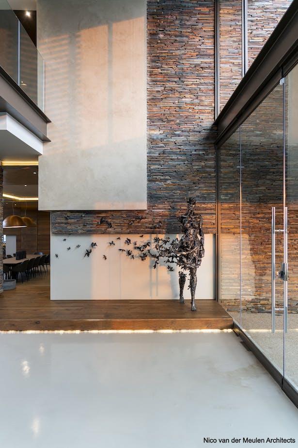 Hall: Sculpture by Regardt van der Meulen.