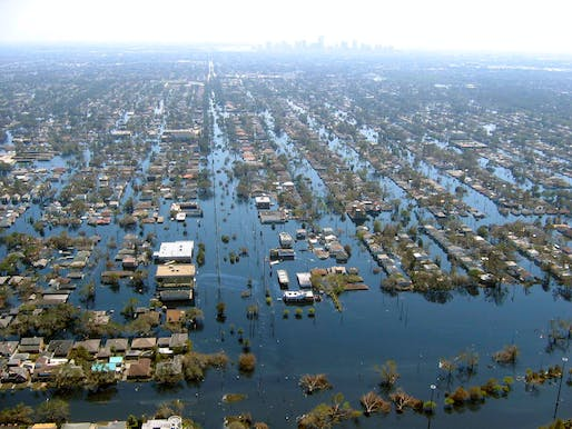 A 2016 study in the journal Nature: Climate Change estimates that upwards of 4 million Americans would have to relocate away from the coast if sea levels rose 3 feet. Photo: Flooded New Orleans in 2005 after it was hit by Hurricane Katrina, tied with 2017's Hurricane Harvey as the costliest recorded tropical cyclone at a reported $125 billion in damage.