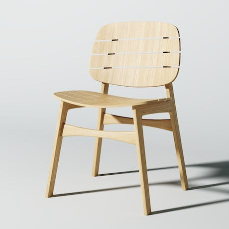 Iteration of Simple Wooden Chair