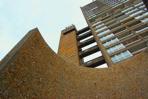 "Many postwar social housing estates, like Ernö Goldfinger's 1967 Balfron Tower in Poplar, East London, were built in a modernist concrete style which critics blamed for antisocial behaviour and crime. Photo: Anna Armstrong/<a href=""https://www.flickr.com/photos/french-disko/5020978638/in/photostream/"">Flickr</a>"
