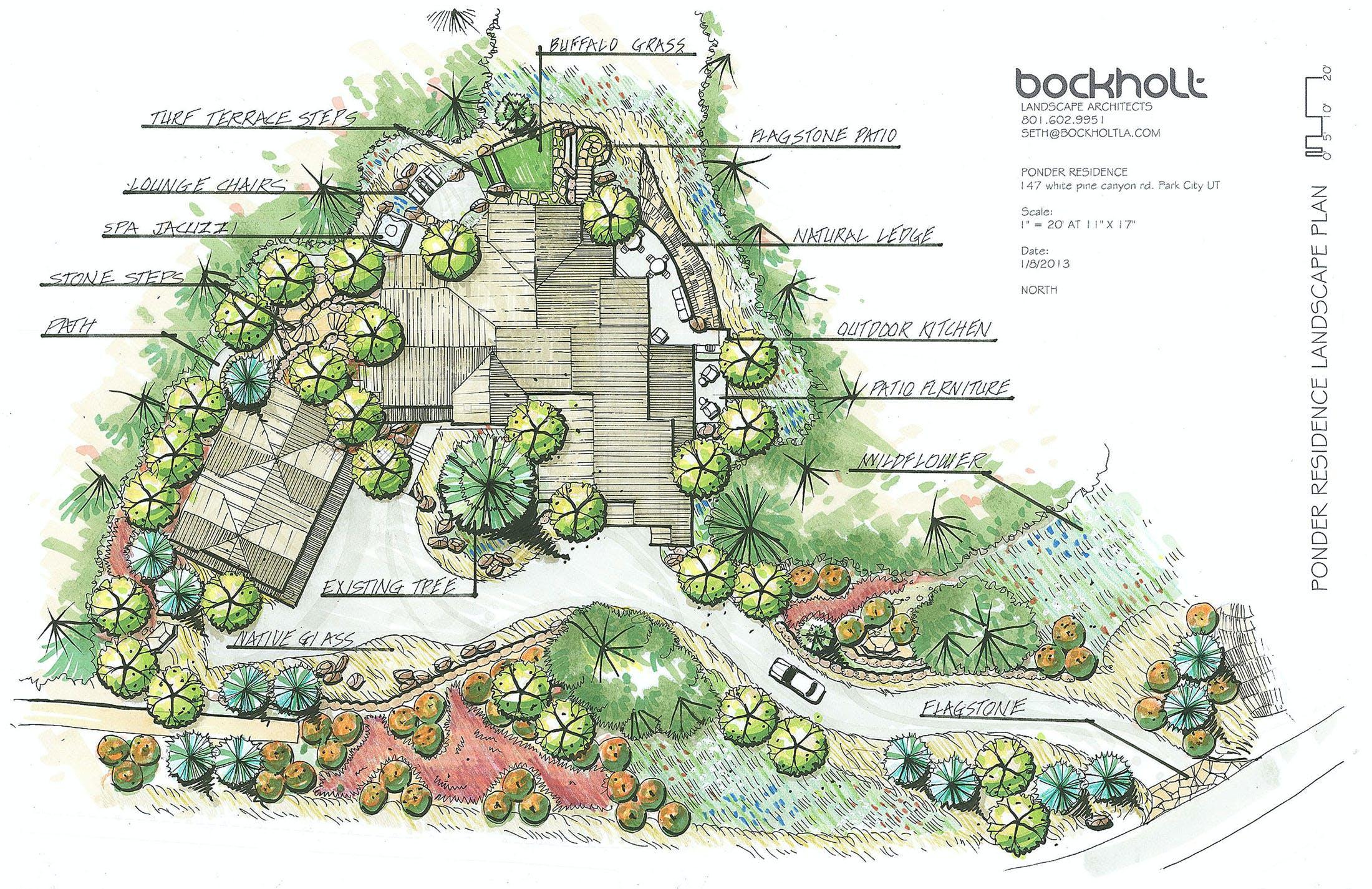 Ponder residence bockholt landscape architecture archinect for Mountain designs garden city