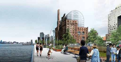 View of the Domino Sugar Refinery conversion project. Image courtesy of PAU.
