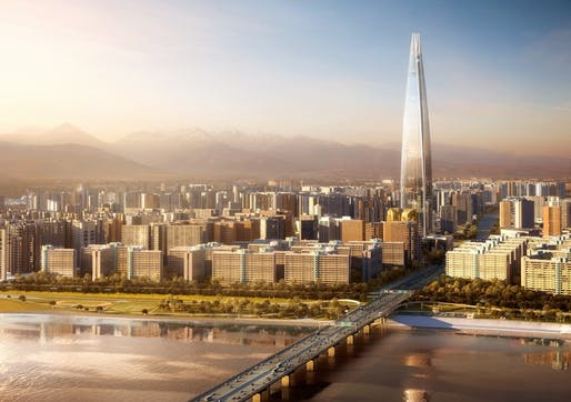 The Lotte World Tower was designed by Kohn Pederson Fox. Credit: Kohn Pederson Fox