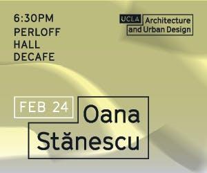 Lecture with Oana Stănescu