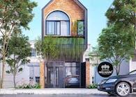 Mẫu thiết kế nhà phố 4m hiện đại 2 tầng