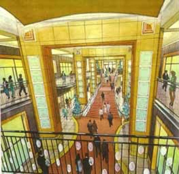 Rendering of the Orchid Walk from up