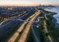 41st Street and 43rd Street Pedestrian Bridges, Lake Shore Drive, Chicago