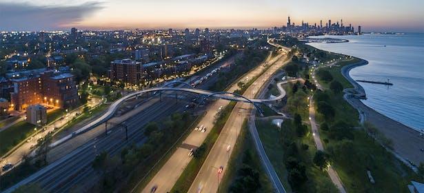 41st Street Pedestrian Bridge, Lake Shore Drive, Chicago (James Steinkamp Photography)