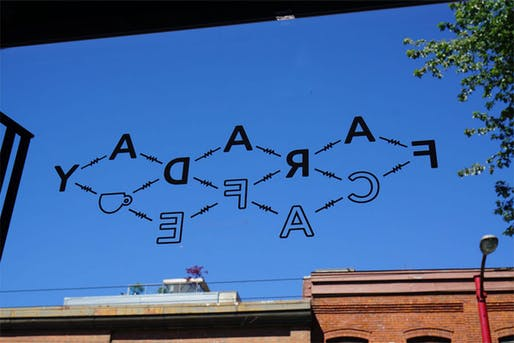 The Faraday Café in Vancouver wants you to put your phone down. Image via popupcity.net