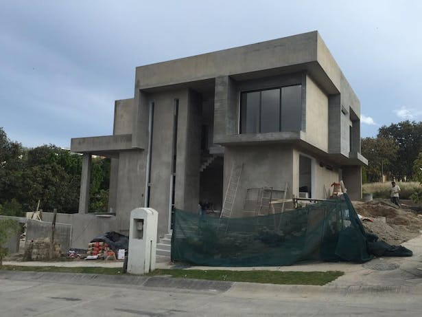 Picture of the house in process