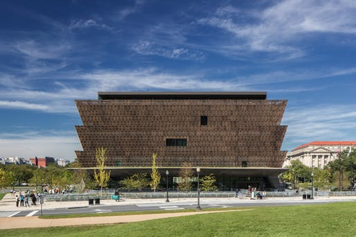 National Museum of African American History and Culture in Washington DC with Freelon Adjaye Bond/SmithGroup. Photo: Brad Feinknopf.