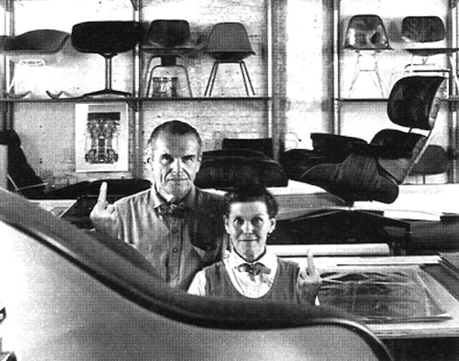 Charles and Ray Eames. Image via supportingfrankgehry.tumblr.com