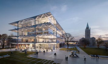 Take a look at ZHA's competition entry for the Neue Nationalgalerie extension in Berlin