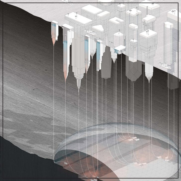 'Below the Water Towers' from the 'Pacific Aquarium' project for the Oslo Architecture Triennale. Credit: DESIGN EARTH