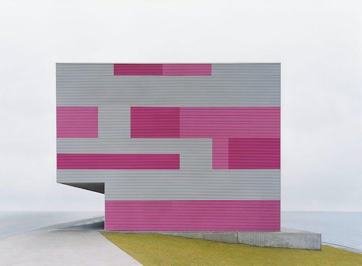 """sachliches"": Grau-magenta, 2007, C-Print, 100 x 136 cm © Josef Schulz"