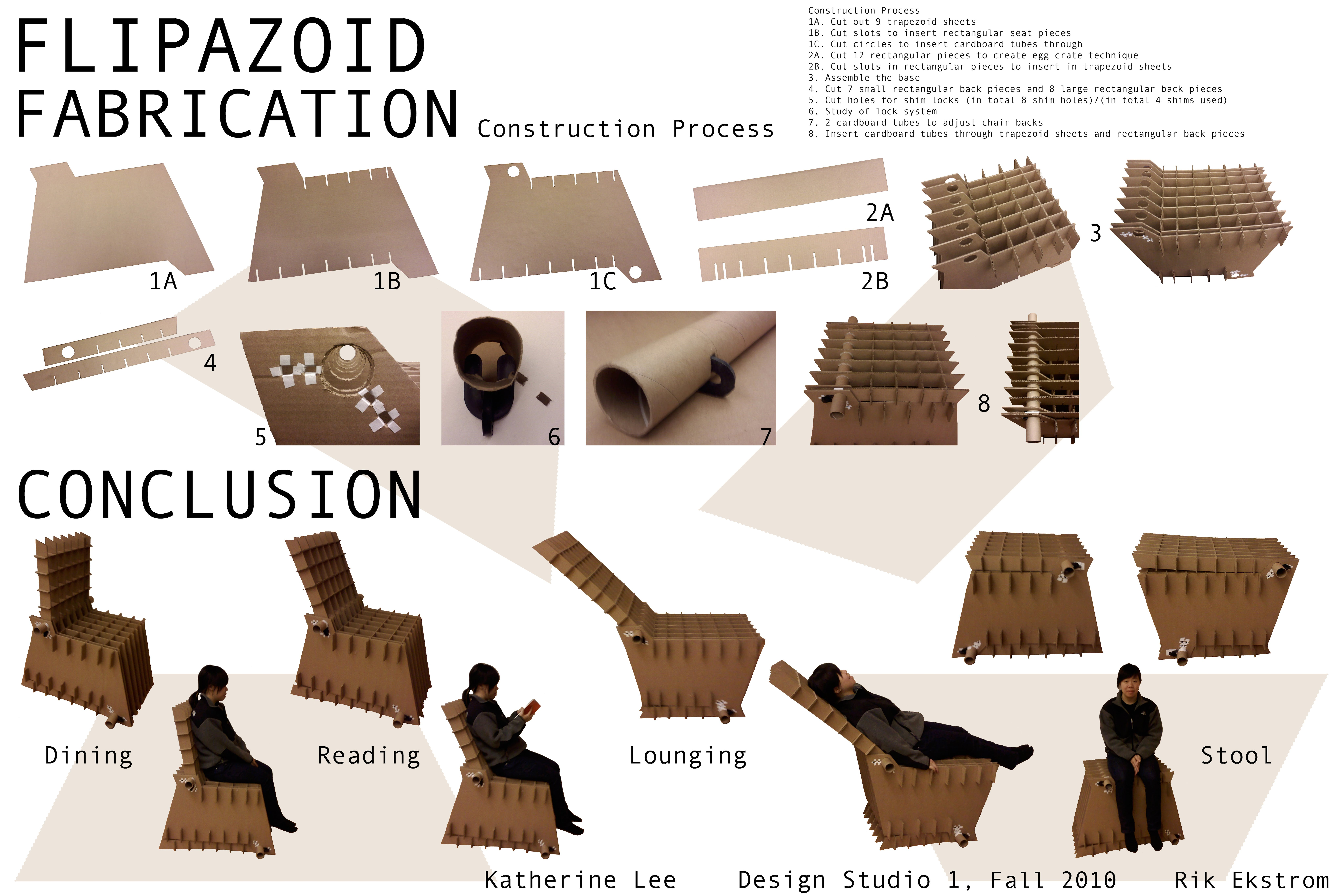Cardboard chair flipazoid katherine lee archinect for Cardboard for projects