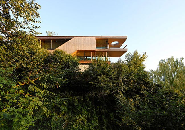 Shortlisted - Best new private house: Haus am Berg Isel, Austria, by Elmar Ludescher Architects (Image via Wallpaper*, Photo: Robert Fessler)