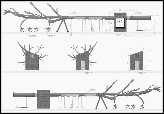 A diagram of the elevations of the tree. Courtesy Visiondivision.