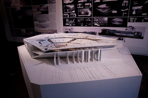 Final model of 'Salvaged Stadium.' Photo courtesy of Yaohua Wang.