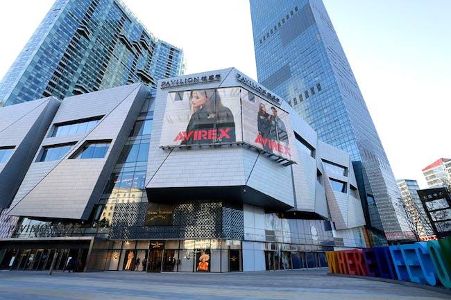 Dalian Super Mall, NBBJ Architects, Dalian, China, GKD Mediamesh. Photography © GKD USA, Inc.