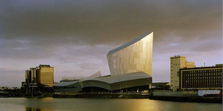 Daniel Libeskind's Imperial War Museum, Manchester, 2002 - image Studio Libeskind