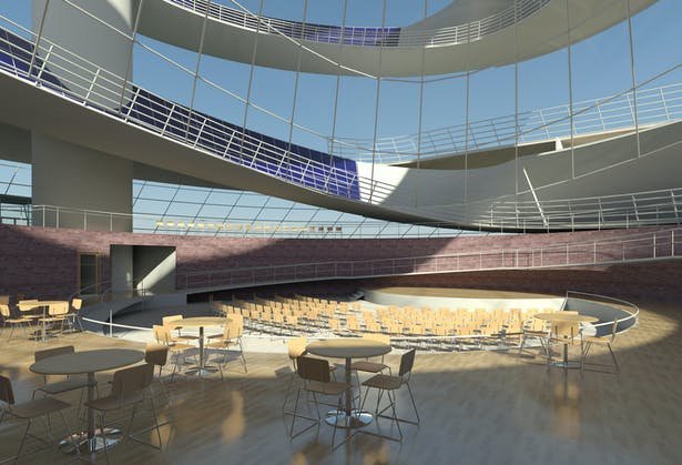 Solar Spiral, sublevel auditorium and gallery