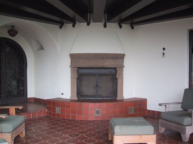 Loggia - new fireplace