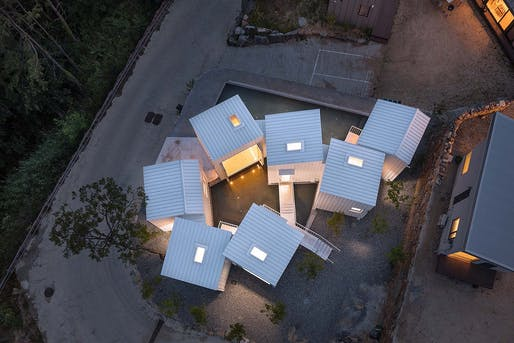 Floating Cubes, Cheongwon-Gun, South Korea, 2018 by Younghan Chung Architects. Photographed by Yoon Joonhwan.