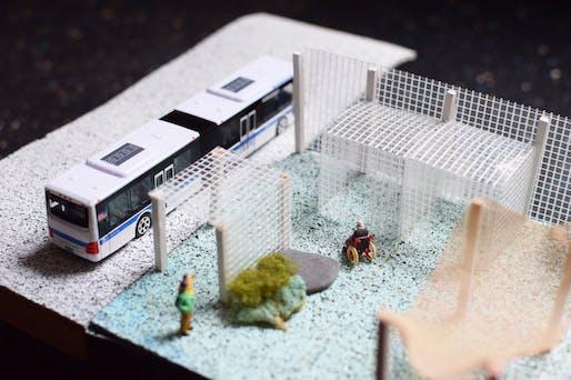 Model - Bus stop. Image courtesy of BRANDT: HAFERD.