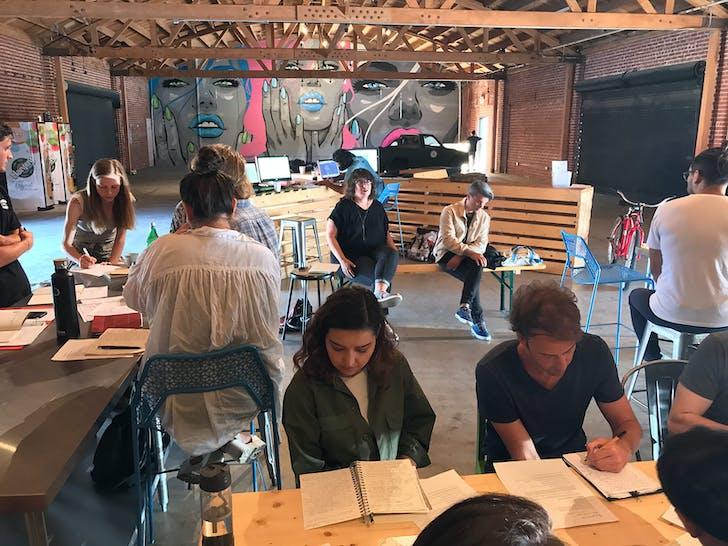 FSA Writing Class with Mimi Zeiger.