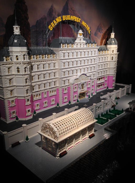 """The Grand Budapest Hotel"" model on display at the A+D Museum in Los Angeles. Photo: Amelia Taylor-Hochberg."