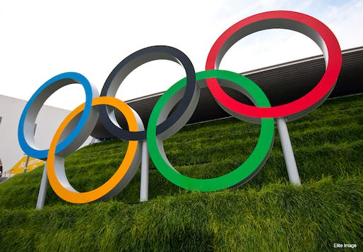 2012 Olympic Games logo in London. Image via Atos/flickr.