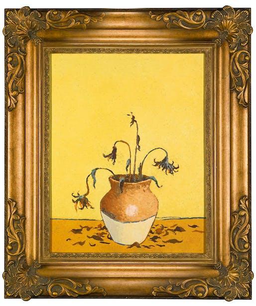 "Banksy, ""Sunflowers From Petrol Station"", 2005. Image courtesy of Lazinc."
