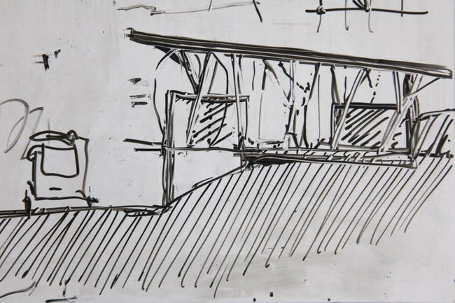 Whiteboard sketch (Photo: Zifeng Wei)