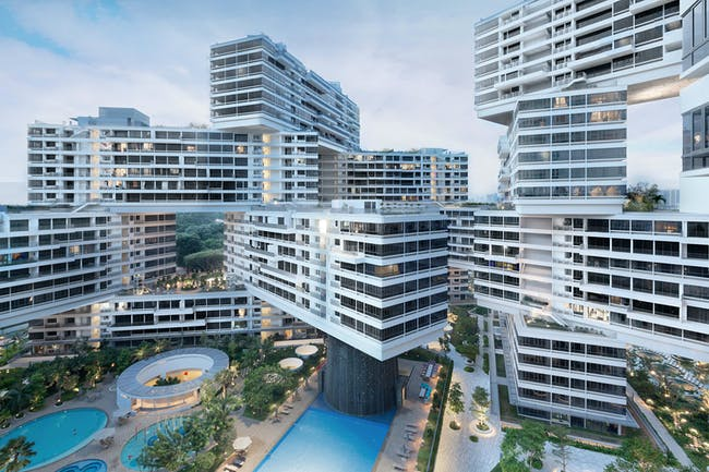 COMPLETED BUILDINGS - The Interlace / Singapore. Designed by OMA / Ole Scheeren.
