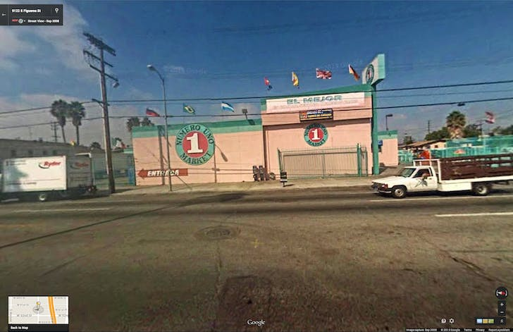 Google Street View of location for 'Empire Liquor Mart (9127 S. Figueroa St)'.