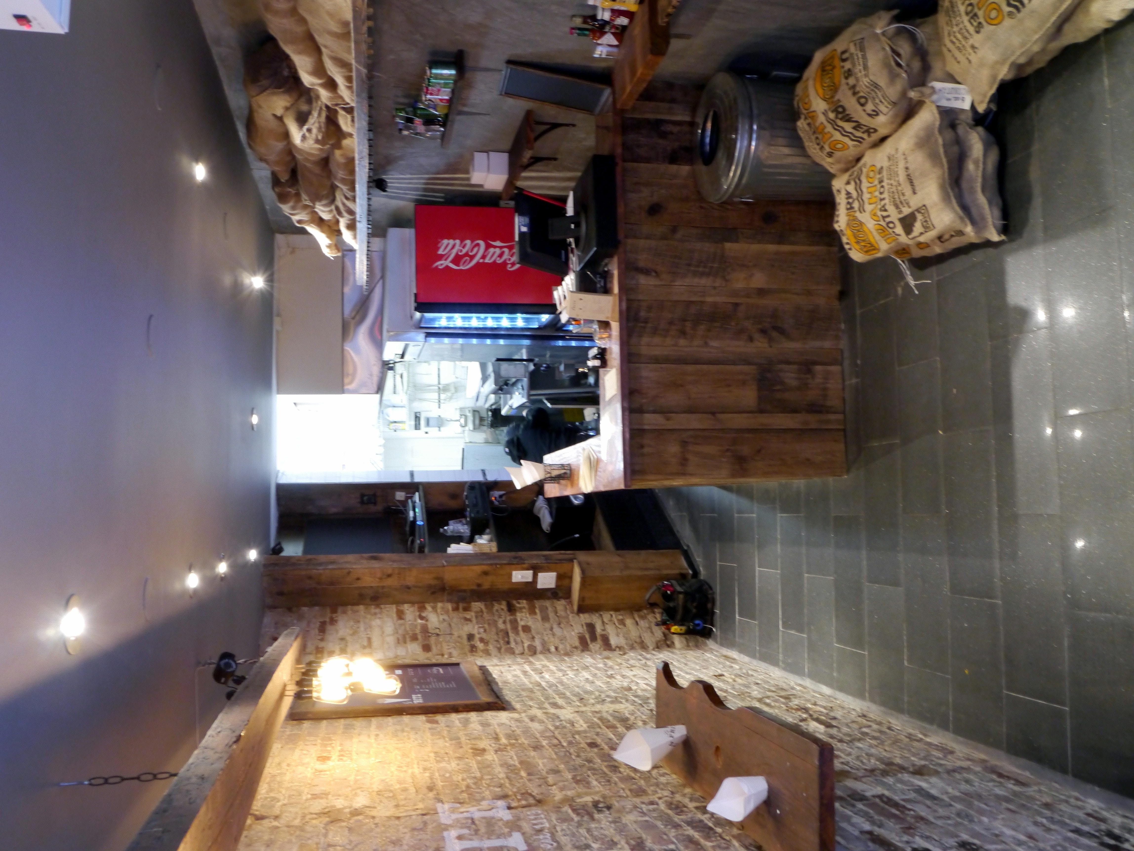 Overview Restaurant Interior Design Bricks Reclaimed Wood Lighting  Faux Paint