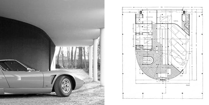 Cars radically altered the architecture of the 20th century home: Villa Savoye by Le Corbusier.