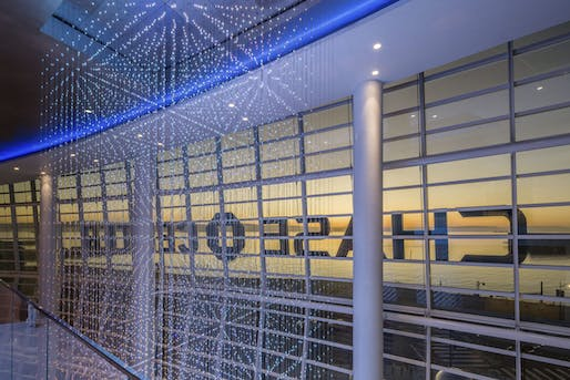 Chase Center Chandelier by Studio 1Thousand. Image courtesy CODAawards