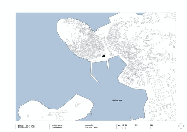 Wide site plan