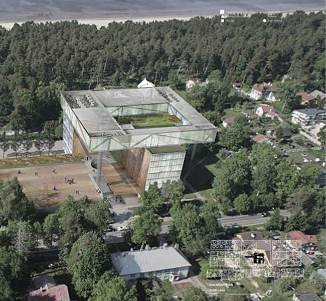 Detail of the top winning entry byTrindade João of VENTURA TRINDADE architects, Ida, Portugal, Lisbon
