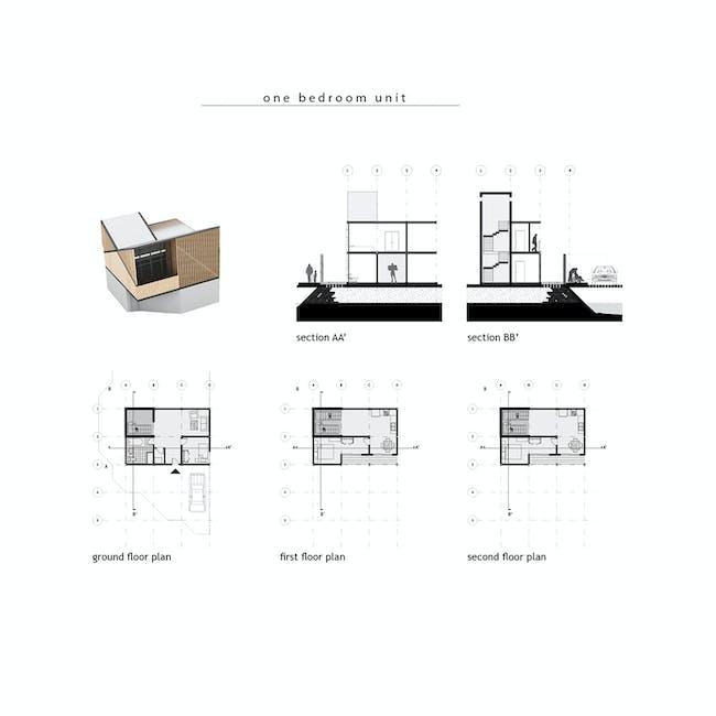 One-bedroom unit. Image courtesy of diji-lab.