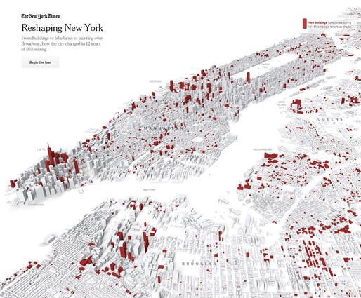 "Slide from the New York Time's interactive feature ""Reshaping New York"""