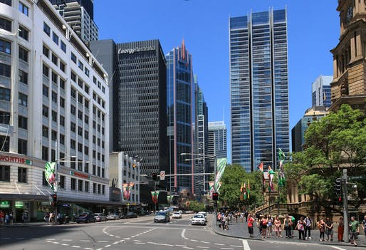 The proposed site of new light rail in Sydney (photo 'George street in Sydney Australia' by Adam.J.W.C.).